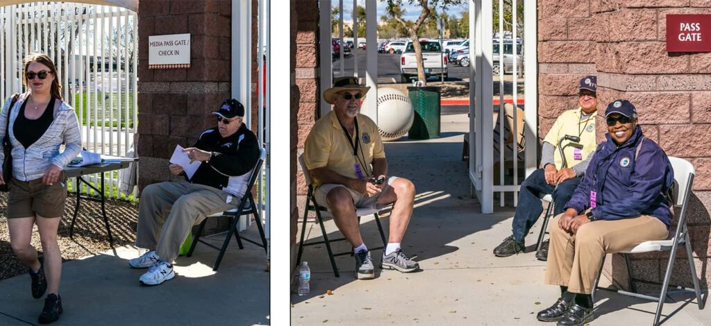 Pass Gate volunteers